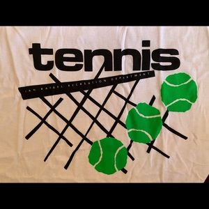 Adult T-Shirt White Size X-Large Tennis